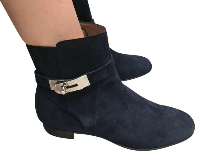 Item - Neo Blue Marine Kelly Suede Leather Low Bts Palladium Hardware Boots/Booties Size EU 38 (Approx. US 8) Regular (M, B)