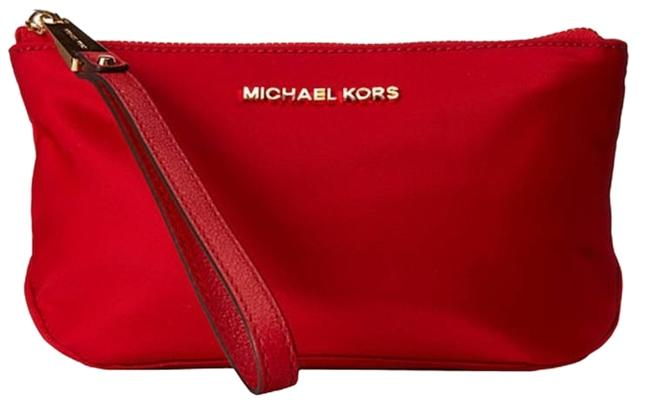 Item - Red Large Nylon Zip Pouch - Cosmetic Bag