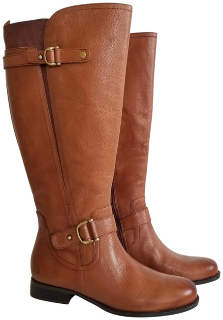 Item - Tan Jersey Calf Boots/Booties Size US 8 Wide (C, D)