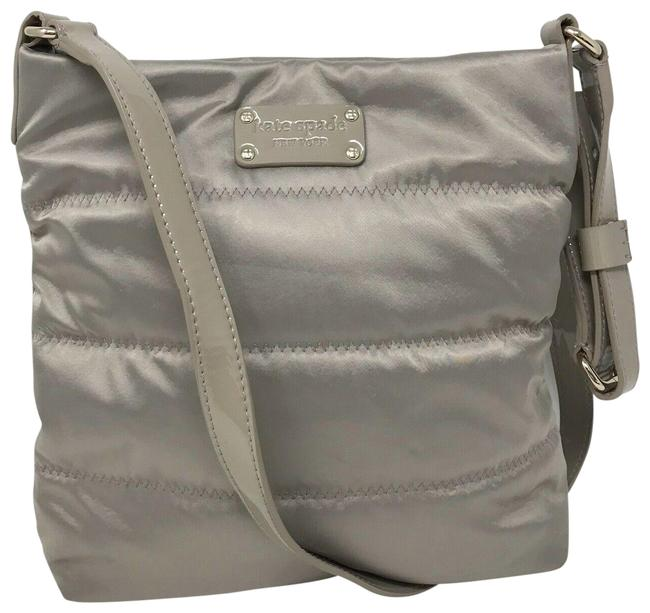 Item - Quilted Gray Nylon Cross Body Bag