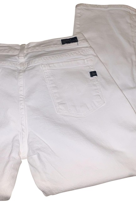 Item - White Crop with Rolled Bottom Capri/Cropped Jeans Size 8 (M, 29, 30)