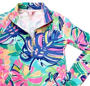 Lilly Pulitzer Popover Preppy Tropical Comfortable Sweater