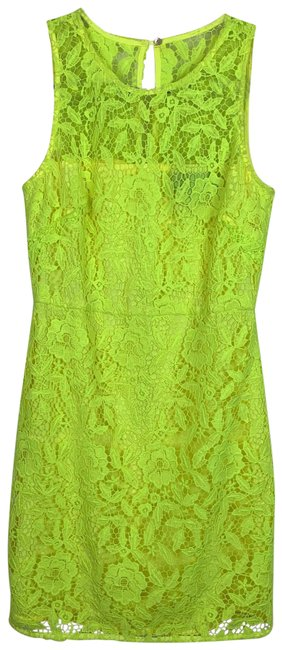 Item - Yellow Collection Neon Lace Short Cocktail Dress Size 2 (XS)