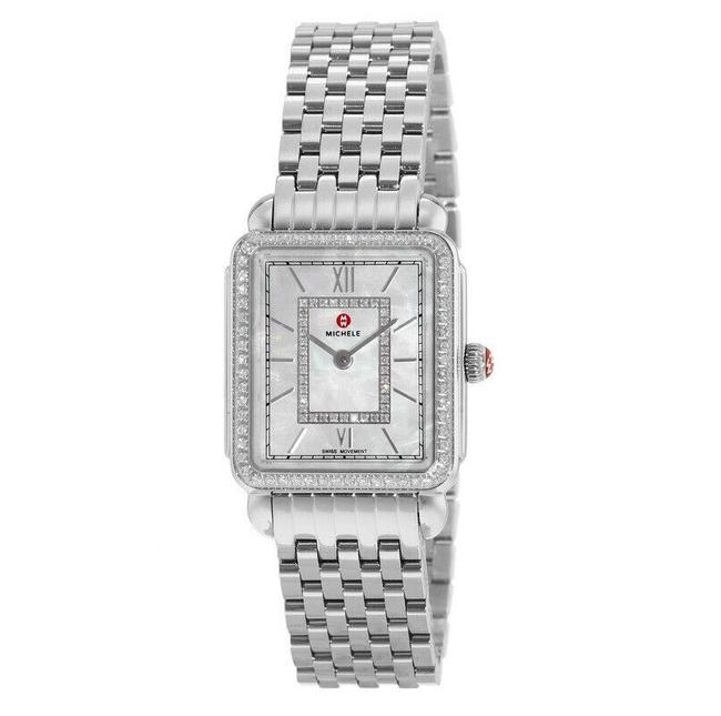 Item - Silver Deco Ii Mid Stainless Mother Of Pearl Diamond Mww06i000001 Watch