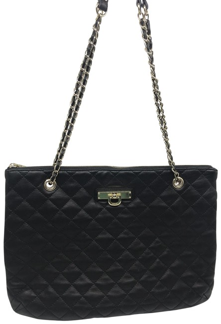 Item - Bag XL Black Quilted Leather Tote