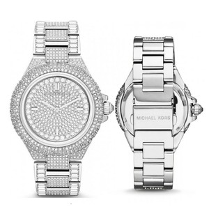 Michael Kors New Michael Kors Camille Silver-Tone Crystal Pave Glitz Dial