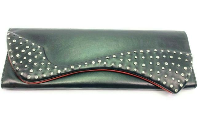 Item - Pigalle Strass Crystal Strassed Black Leather Clutch