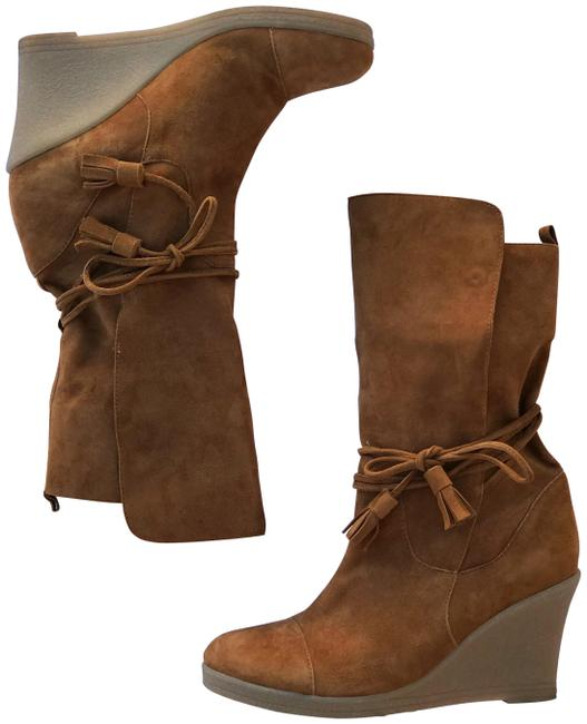 Item - Tan Suede Wedge Boots/Booties Size EU 36 (Approx. US 6) Regular (M, B)