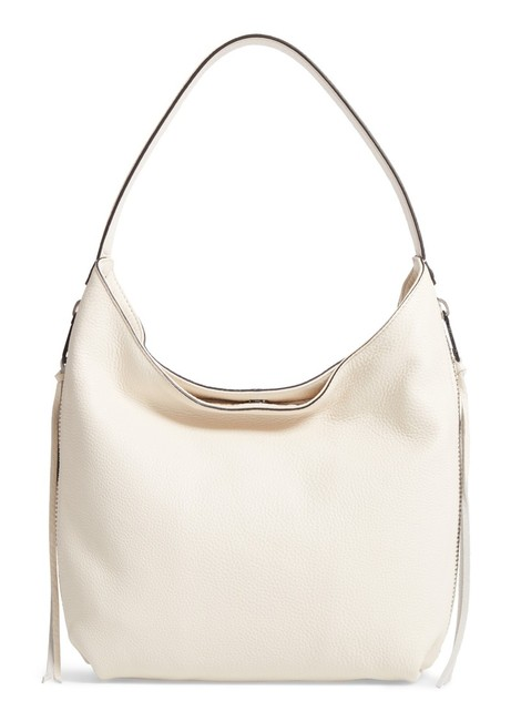 Item - Hobo Medium Bryn Double Zip Khaki/ Silver Leather Shoulder Bag