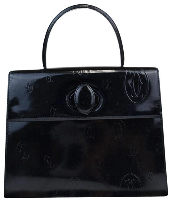Item - Birthday Hand France Navy Blue Patent Leather Tote