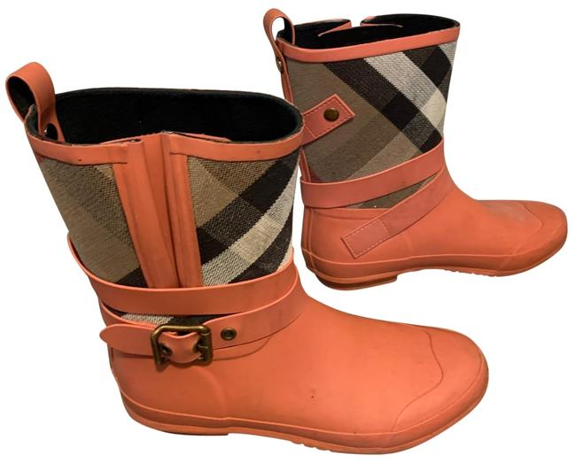 Item - Salmon/Coral Short Rain Boots/Booties Size US 9 Regular (M, B)