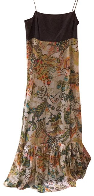 Item - Multicolor Brown Long Casual Maxi Dress Size 6 (S)