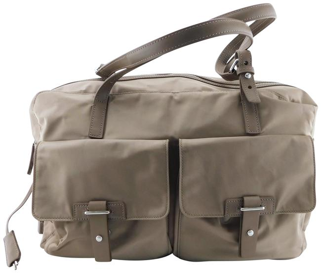 Item - Large Carry-on Double Handle Tote Shoulder Taupe Nylon Weekend/Travel Bag