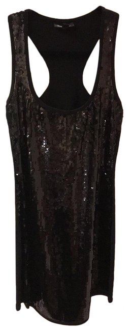 Item - Black Sequin Body Conscious Short Night Out Dress Size 6 (S)