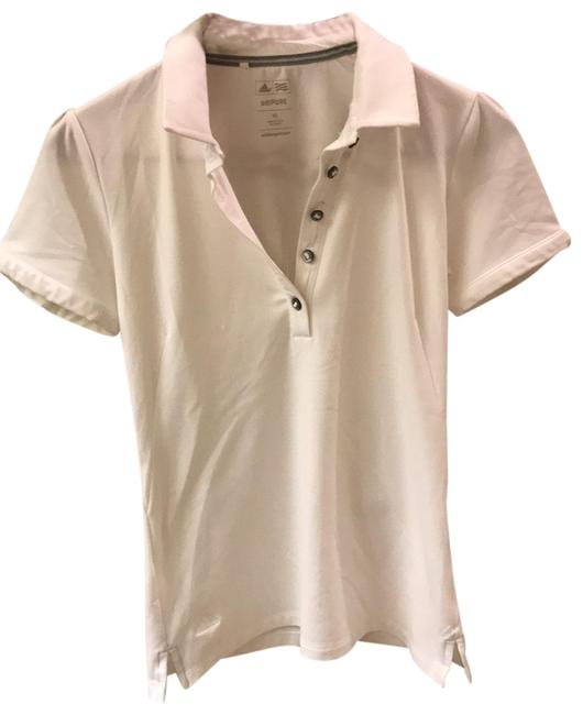 Item - White Golf Dri Fit Slim Fit Button Up Polo with Collar Activewear Top Size 2 (XS)