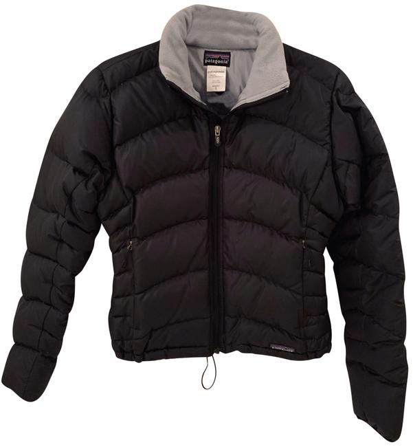 Item - Black with Grey Interior Fitted Quilted Puffer Jacket Coat Size 4 (S)