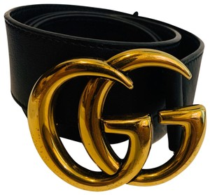 Gucci GG Marmont leather belt with shiny buckle size 85/34