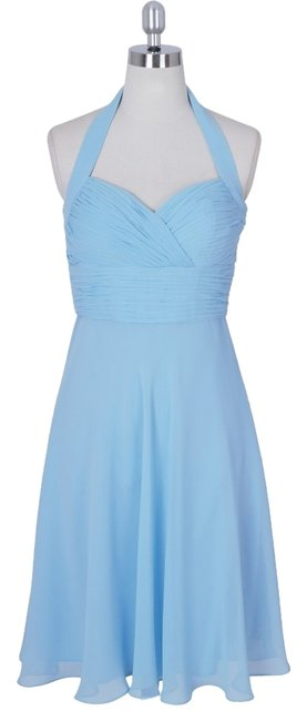 Preload https://item2.tradesy.com/images/blue-halter-sweetheart-pleated-waist-and-bust-chiffon-knee-length-formal-dress-size-8-m-2720101-0-0.jpg?width=400&height=650