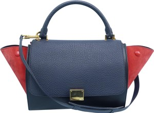 Céline Trapeze Small Calfskin Satchel in Multi-color
