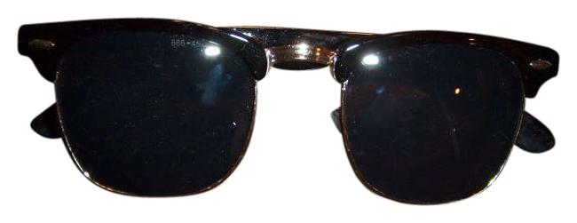 Item - Black/Silver Clubmaster Style Sunglasses