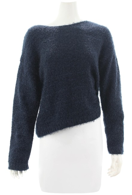 Rag Poets Furry Size Medium New with Tags Navy Blue Sweater Rag Poets Furry Size Medium New with Tags Navy Blue Sweater Image 1