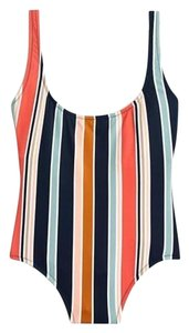 Madewell Second Wave Tank One-Piece Swimsuit in Towel Stripe