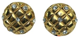 Chanel Chanel Matelasse Rhinestone Pendant Clip On Earrings CCJY33