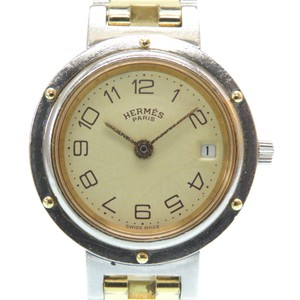 Hermes HERMES Clipper Gold Plated Stainless Steel Quartz Ladies Watch