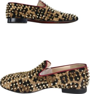 Christian Louboutin Loafers Rollerboy Spike Men's brown Flats