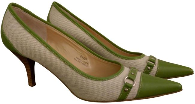 Item - Green and White 67207 Pumps Size US 9 Regular (M, B)