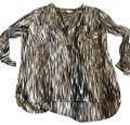 Diane von Furstenberg Top brown stripes