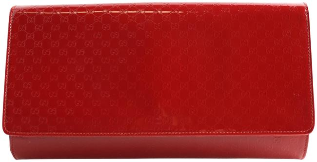 Item - Microguccissima Red Patent Leather Clutch