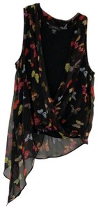 Karen Kane Top black with different colored butterflys