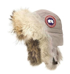 Canada Goose Limestone Aviator with Genuine Coyote Fur Trim Large/X-large Hat