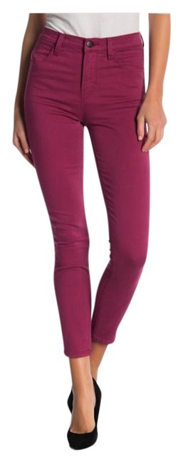 Item - Deep Plum Alana High Rise Crop Skinny Jeans Size 24 (0, XS)
