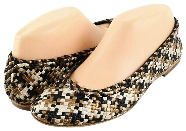 Item - Black/ Gold / White Emely Leather Ballet Flats Size EU 38.5 (Approx. US 8.5) Regular (M, B)