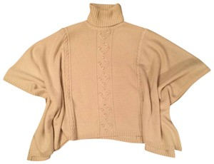ALICE by Temperley Wool Turtle Neck Poncho Sweater