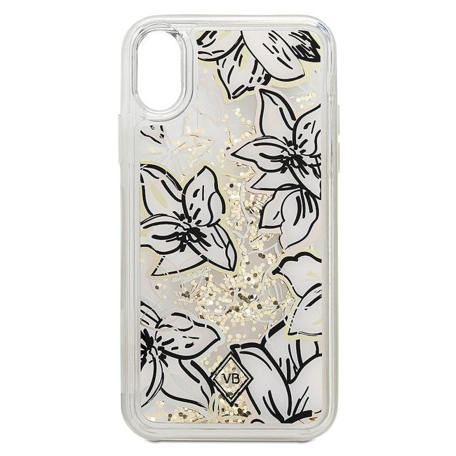 Item - Clear Multi Falling Flowers Glitter Flurry Resin Iphone X Cell Phone Case Tech Accessory