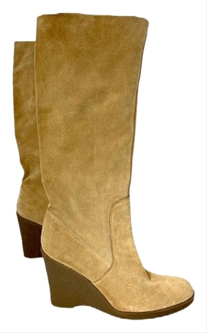 Item - Tan Suede Raw Edge Boots/Booties Size US 9.5 Regular (M, B)