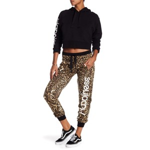 Happiness Baggy Pants Black, Brown, Animal, Leopard