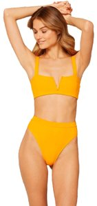 L*Space l*space lee lee textured top and bottom size small mango color