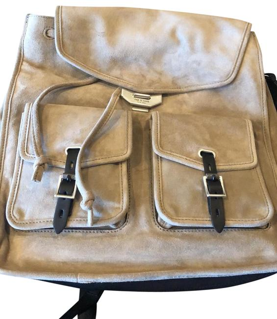 Item - And Grey Suede Leather Backpack