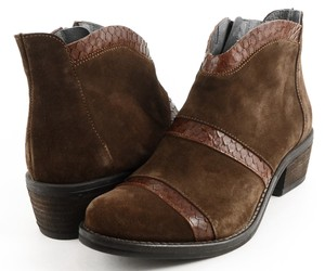 KANNA Comfortable Ankle Brown Cognac Boots