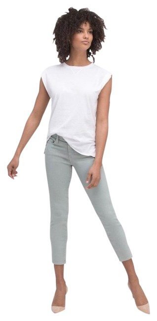 Item - Blue Pale Light Wash The Stilt Crop Skinny Jeans Size 6 (S, 28)