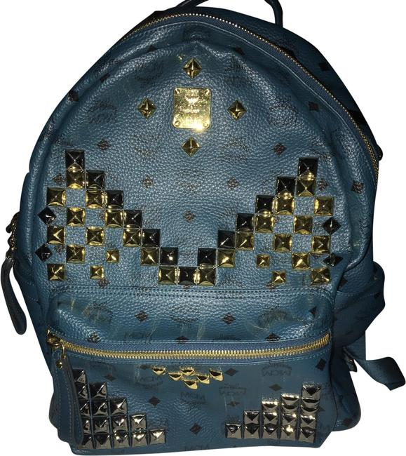 Item - Large Stark Teal Black Visetos Backpack