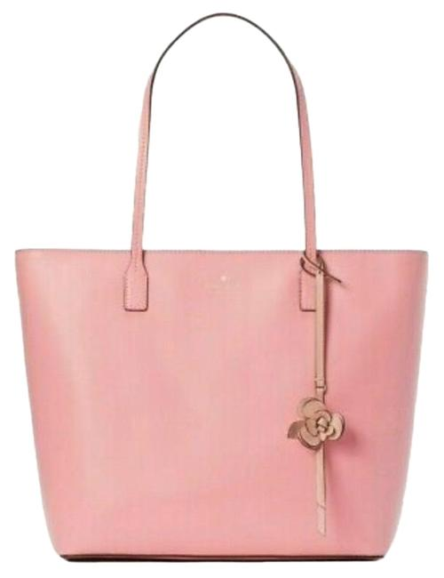 Item - W Karla Smooth W/ Flower Dangle Felicity Pink Leather Tote