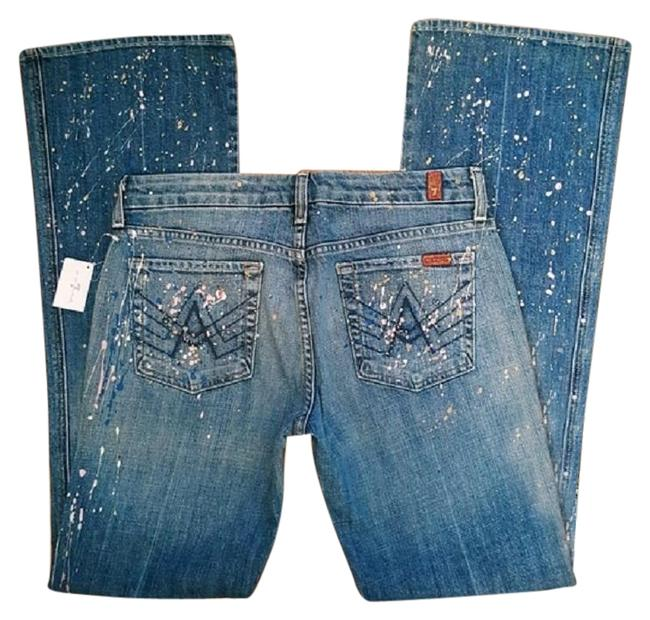 Item - Blue Distressed Jeweled A Pocket Boot Cut Jeans Size 29 (6, M)