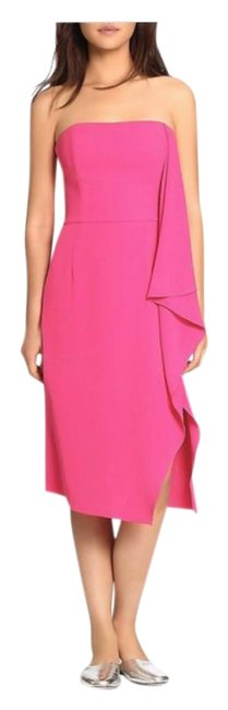 Item - Pink Heritage Women's Draped Strapless Mid-length Cocktail Dress Size 6 (S)