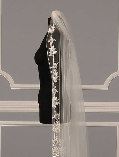 Homa Bridal Diamond White Long 228 Bridal Veil