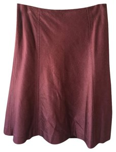 Banana Republic Skirt wine / merlot